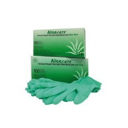 Gants latex Aloe vera